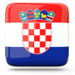 Square icon of croatia - Stock Photo