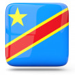 Square icon of democratic republic of the congo — Stock Photo