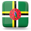 Stock Photo: Square icon of dominica