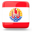 Square icon of french polynesia — Stock Photo