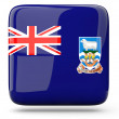 Square icon of falkland islands — Stock Photo