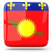 Square icon of guadeloupe — Stock Photo