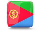 Square icon of eritrea — Stock Photo