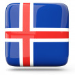 Square icon of iceland — Stock Photo