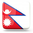 Stock Photo: Square icon of nepal