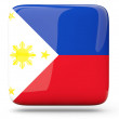 Square icon of philippines — Stock Photo