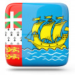 Square icon of saint pierre and miquelon — Stock Photo
