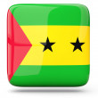 Stock Photo: Square icon of sao tome and principe