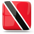 Square icon of trinidad and tobago — Stock Photo