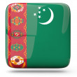 Stock Photo: Square icon of turkmenistan