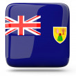 Stock Photo: Square icon of turks and caicos islands