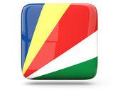 Square icon of seychelles — Stock Photo