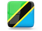 Square icon of tanzania — Stock Photo