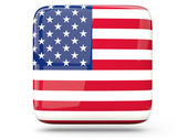 Square icon of united states of america — Stock Photo
