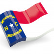 Wavy icon of north carolina — Stock Photo
