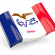 Wavy icon of iowa - Foto Stock