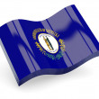 Wavy icon of kentucky - Stock Photo