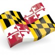 Wavy icon of maryland - Stock Photo