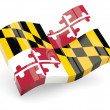 Stock Photo: Wavy icon of maryland