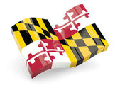 Wavy icon of maryland — Stock Photo