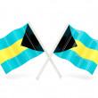 Flag of bahamas — Stock Photo