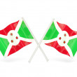 Stock Photo: Flag of burundi