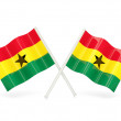 Flag of ghana - Stock Photo