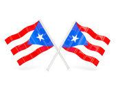 Flag of puerto rico — Stock Photo