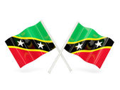 Flag of saint kitts and nevis — Stock Photo