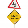 Royalty-Free Stock Photo: Ideas just ahead road sign