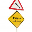Crisis road sing — Stock Photo