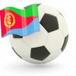 Football with flag of eritrea - Stok fotoğraf