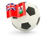Fotboll med flagga bermuda — Stockfoto