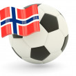 Stock Photo: Football with flag of norway
