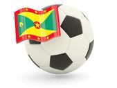 Football with flag of grenada — Stock Photo