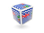 Flag of british indian ocean territory. Cube icon — Stock Photo