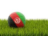 Piłka nożna z flaga afganistanu — Zdjęcie stockowe