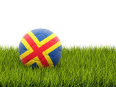 Football with flag of aland islands — Stock Photo