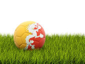 Football with flag of bhutan — Stock Photo