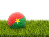Football with flag of burkina faso — Stock Photo