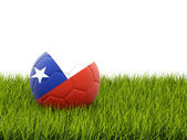 Football with flag of chile — Stock Photo