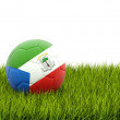 Football with flag of equatorial guinea — Stock Photo #37117695