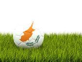 Fußball mit flagge zypern — Stockfoto