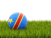 Football with flag of democratic republic of the congo — Stock Photo