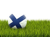 Football with flag of finland — Stock Photo