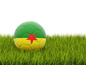 Football with flag of french guiana — Stock Photo