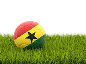 Футбол с флагом Ганы — Стоковое фото