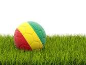 Football with flag of guinea — Stock Photo