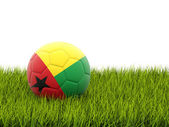 Football with flag of guinea bissau — Stock Photo