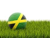 Football with flag of jamaica — ストック写真